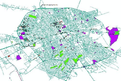 داده های GIS شهرستان کرمان